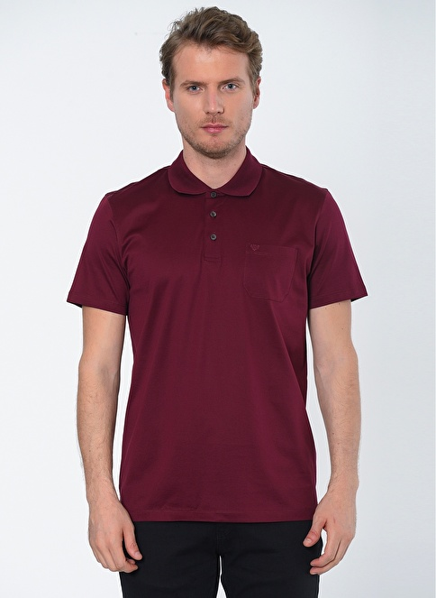 Beymen Business Polo Yaka Tişört Bordo